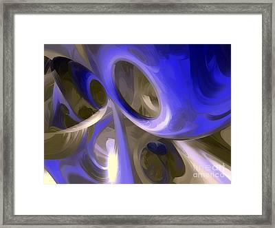 Cerulean Abstract Framed Print by Alexander Butler