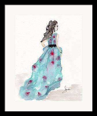 Fashion Mixed Media Framed Prints