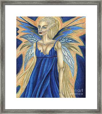 Cerulean Queen Framed Print by Coriander  Shea