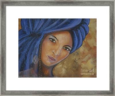 Cerulean Tuareg Framed Print