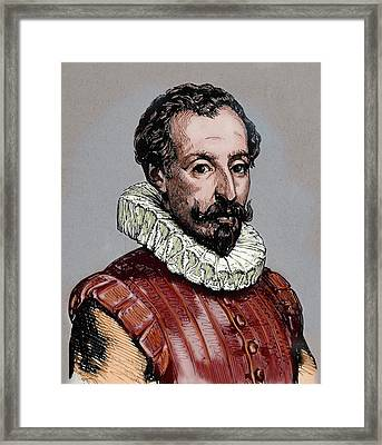 Cervantes, Miguel De (1547-1616 Framed Print