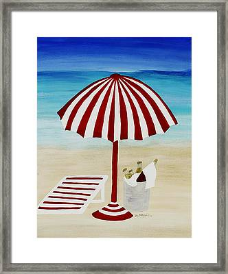 Cerveza Por Favor Framed Print by Barbara St Jean