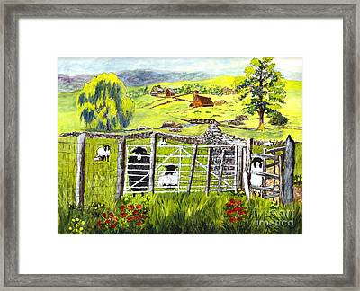 Cervinia Sheep Farm Framed Print by Carol Wisniewski