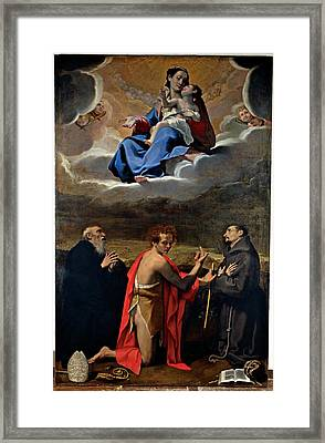 Cesi Bartolomeo, Madonna And Child Framed Print by Everett