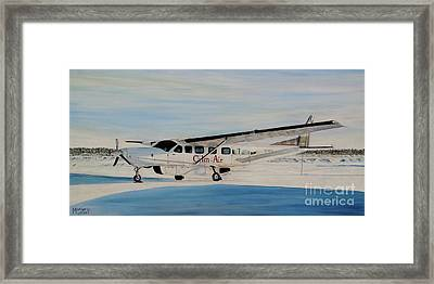 Framed Print featuring the painting Cessna 208 Caravan by Marilyn  McNish