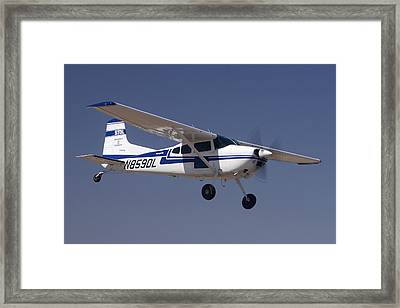 Cessna A185f N859dl Casa Grande March 3 2012 Framed Print
