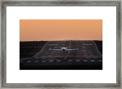 Cessna Citation On Short Final Framed Print by James David Phenicie
