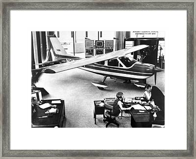 Cessna In A Bank Framed Print