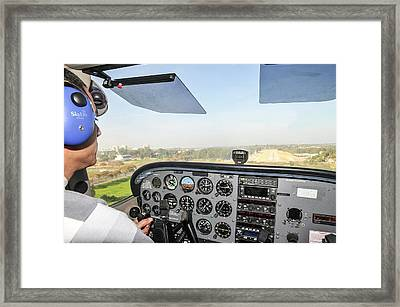 Cessna Skyhawk At Takeoff Framed Print