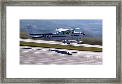 Cessna Takeoff Framed Print by John Daly