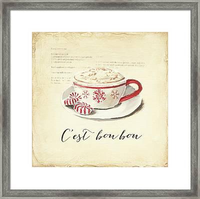 Cest Bon Bon Framed Print by Emily Adams