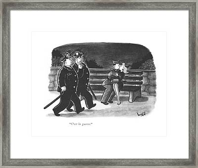 C'est La Guerre Framed Print by Sydney Hoff
