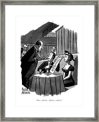 Cette . . . And Cette . . . And Cette Framed Print by Peter Arno