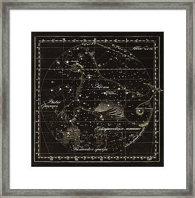 Cetus Constellations, 1829 Framed Print by Science Photo Library