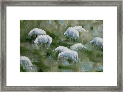 Cezanne Sheep Framed Print