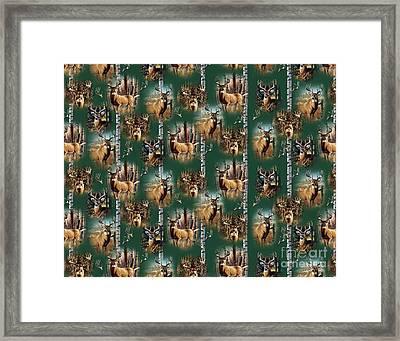 Cf Whitetail Deer Pillow Art Framed Print