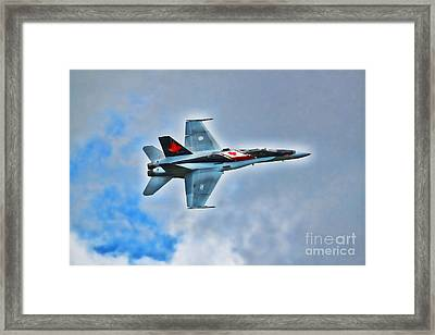 Framed Print featuring the photograph Cf18 Hornet  by Cathy  Beharriell