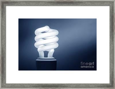 Cfl Blue Framed Print by Olivier Le Queinec