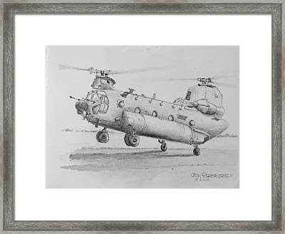 Ch 47 Chinook Helicopter Framed Print