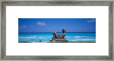 Chac Mool Altar, Cancun, Mexico Framed Print by Panoramic Images