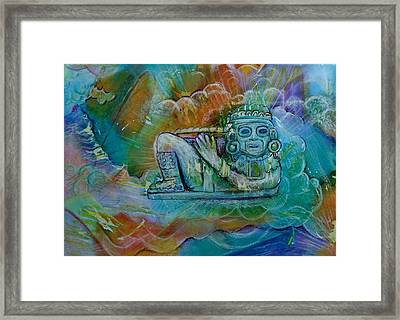 Chacmool De Templo Mayor Framed Print by Terri Ana Stokes