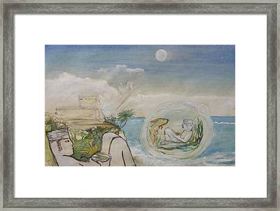 Chacmool Dream Of Tulum Framed Print by Terri Ana Stokes