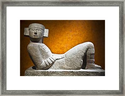 Chacmool Framed Print by John  Bartosik