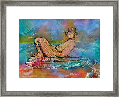 Chacmool Of The Lava Lounge Framed Print by Terri Ana Stokes