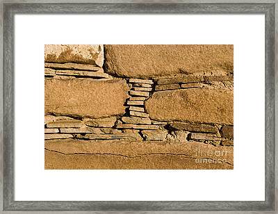 Chaco Bricks Framed Print by Steven Ralser