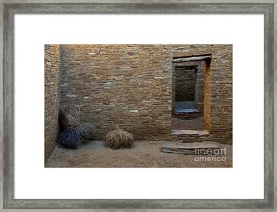 Chaco Canyon Doorways Framed Print
