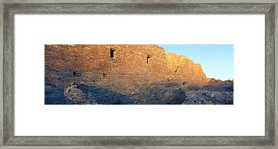 Chaco Canyon Indian Ruins, Sunset, New Framed Print by Panoramic Images
