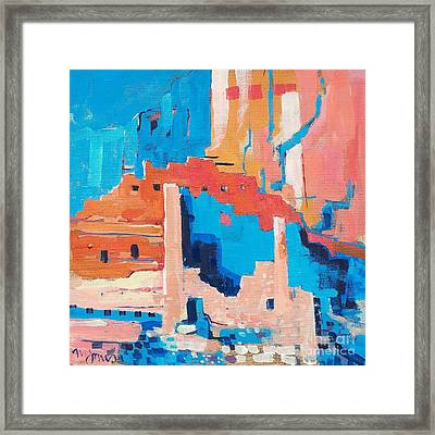 Chaco Canyon Framed Print by Micheal Jones