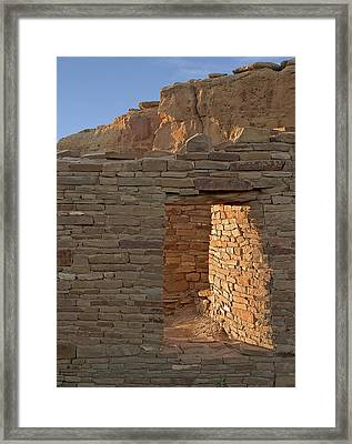 Chaco Canyon Window Framed Print by Steven Ralser