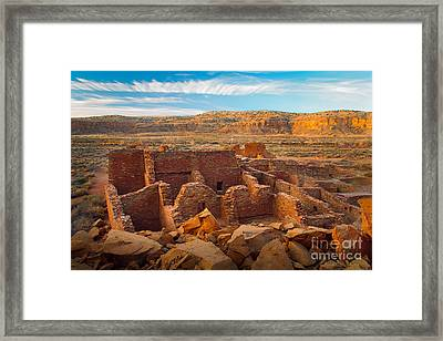 Chaco Ruins Number 2 Framed Print by Inge Johnsson
