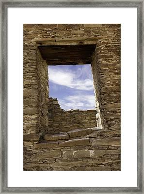 Chaco Sky Framed Print by Jeanne Hoadley
