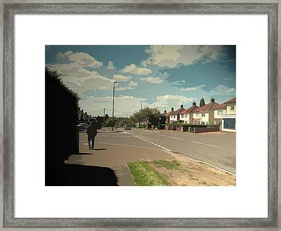 Chaddesden Park Road In Derby, Suburban Scene Pictured Here Framed Print