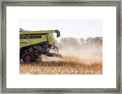 Chaff From Rapeseed Harvesting Framed Print by Lewis Houghton/science Photo Library
