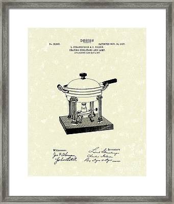 Chafing Dish 1907 Patent Art Framed Print by Prior Art Design