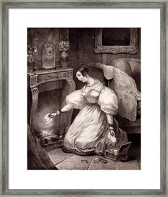 Chagrin Damour, Early C19th Framed Print by French School