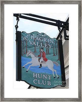 Chagrin Valley Hunt  Club 2 Framed Print