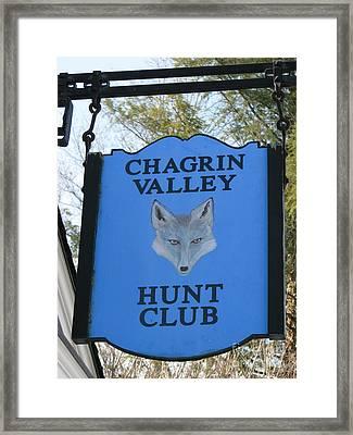 Chagrin Valley Hunt Club Framed Print