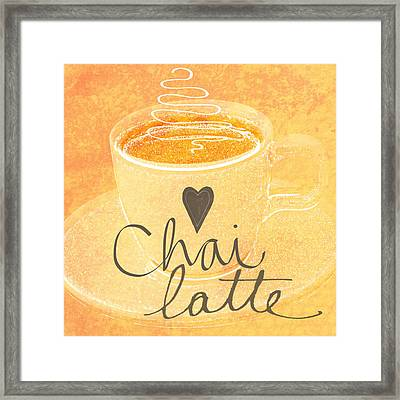 Chai Latte Love Framed Print