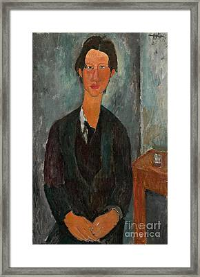 Chaim Soutine Framed Print by Amedeo Modigliani