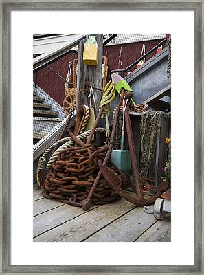 Chain And Anchor Framed Print by Betsy Knapp