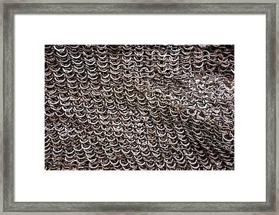 Chain Armor Detail Framed Print