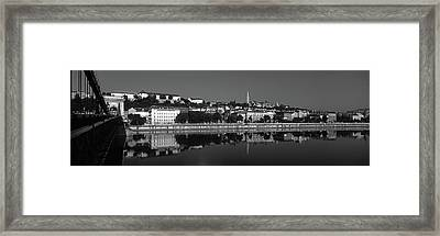 Chain Bridge Over Danube River Framed Print by Panoramic Images