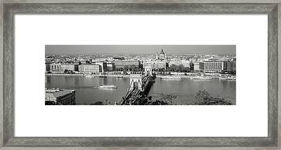 Chain Bridge Over The Danube River Framed Print by Panoramic Images