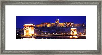 Chain Bridge, Royal Palace, Budapest Framed Print by Panoramic Images