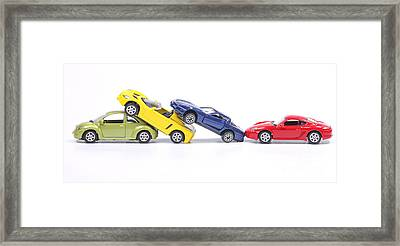 Chain Crash Framed Print