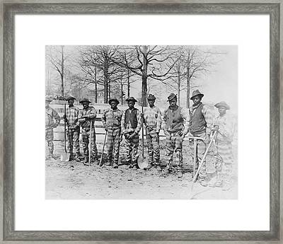 Chain Gang C. 1885 Framed Print by Daniel Hagerman